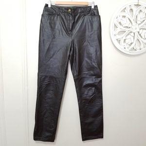 Ralph Lauren size 6 pants 100% leather